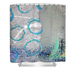 Square Collage No. 6 Shower Curtain by Nancy Merkle
