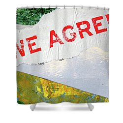 Square Collage No. 7 Shower Curtain by Nancy Merkle