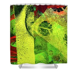 Square Collage No. 8 Shower Curtain by Nancy Merkle