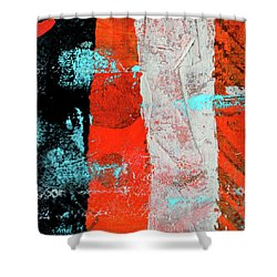 Square Collage No. 9 Shower Curtain by Nancy Merkle