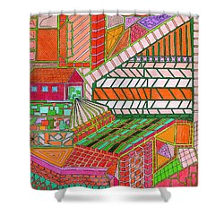Square Dance 2 Shower Curtain