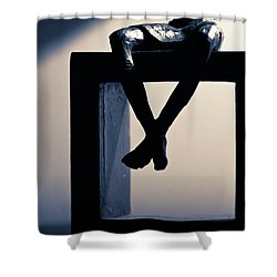 Square Foot Shower Curtain by David Sutton