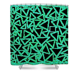 Square One Shower Curtain by Will Borden