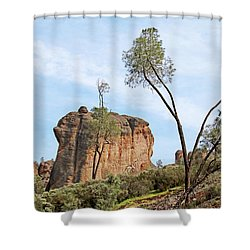 Shower Curtain featuring the photograph Square Rock Formation by Art Block Collections
