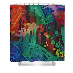 Squares And Other Shapes 2 Shower Curtain