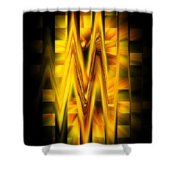Squares And Waves Shower Curtain