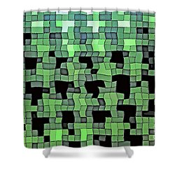 Squares Shower Curtain by Juls Adams