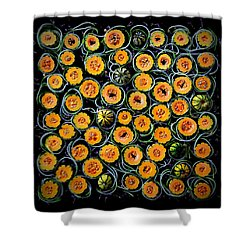 Squash And Zucchini Patters Shower Curtain