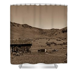 Shower Curtain featuring the photograph Squaw Butte Homestead by Robert Bales