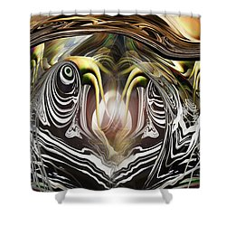Squid Liquidation Shower Curtain by Steve Sperry