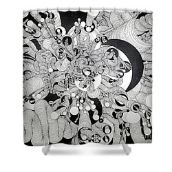 Squiggle Art By Amy Shower Curtain