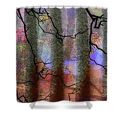 Squiggles And Lines Shower Curtain by Robert Ball