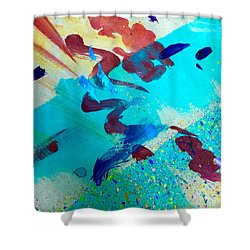 Shower Curtain featuring the painting Squiggles And Stripes by Darice Machel McGuire