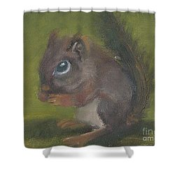 Squirrel Shower Curtain by Jessmyne Stephenson