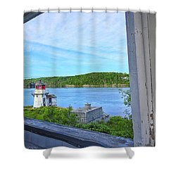 Squirrel Point View From The Deck Shower Curtain