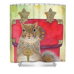 Squirrel Secret Shower Curtain