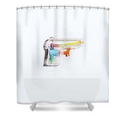 Squirt Gun Shower Curtain
