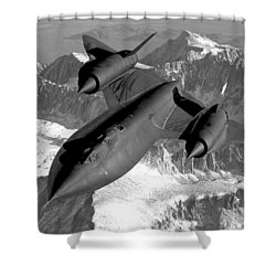 Sr-71 Blackbird Flying Shower Curtain by War Is Hell Store