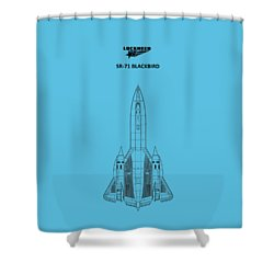 Sr-71 Blackbird Shower Curtain by Mark Rogan