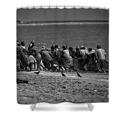 Sri Lankan Fishermen Shower Curtain