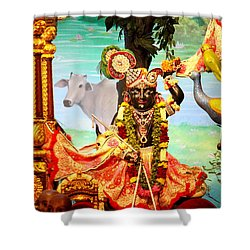 Sri Nath Ji, Radha Gopinath Mandir, Mumbai Shower Curtain by Jennifer Mazzucco