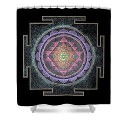 Shower Curtain featuring the painting Sri Yantra by Keiko Katsuta