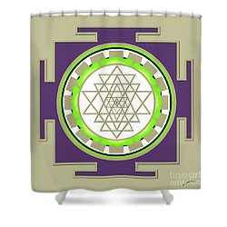 Sri Yantra Of Prosperity Shower Curtain