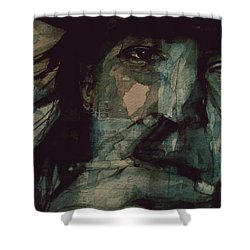 Shower Curtain featuring the painting SRV by Paul Lovering