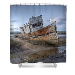Ss Point Reyes In Inverness Before Demolition Shower Curtain
