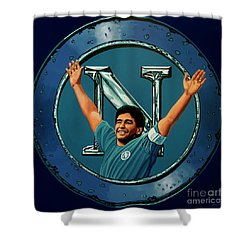 Ssc Napoli Painting Shower Curtain