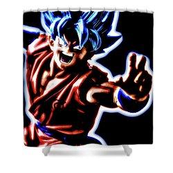 Ssjg Goku Shower Curtain