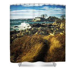 Shower Curtain featuring the photograph St. Anne's Church-kennebunk, Maine by Samuel M Purvis III
