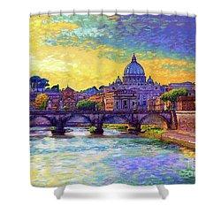 St Angelo Bridge Ponte St Angelo Rome Shower Curtain