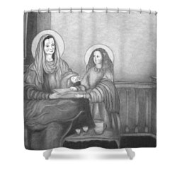 St. Anne And Bvm Shower Curtain