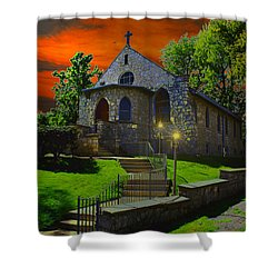 Shower Curtain featuring the photograph St. Anne's Chapel by Michael Rucker
