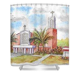 St. Anthony Of Padua Catholic Chuch, Manteca, California Shower Curtain