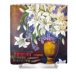 St. Anthony's Lilies Shower Curtain
