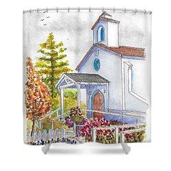 St. Anthony's Catholic Church, Mendocino, California Shower Curtain