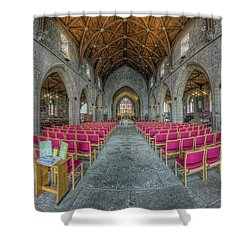Shower Curtain featuring the photograph St Asaph Cathedral by Ian Mitchell