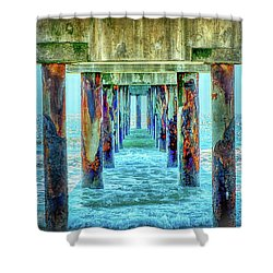 Shower Curtain featuring the photograph St. Augustine Beach by Louis Ferreira