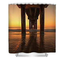 St Augustine Beach Pier Morning Light Shower Curtain