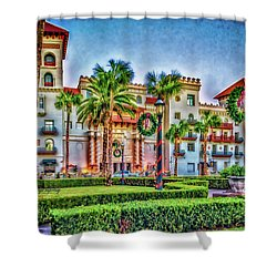 St. Augustine Downtown Christmas Shower Curtain