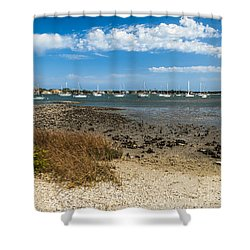 St Augustine Harbor Shower Curtain by Michelle Wiarda