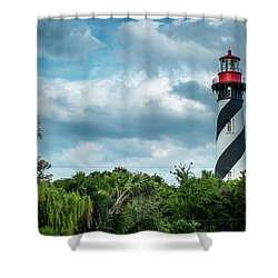 Shower Curtain featuring the photograph St. Augustine Lighthouse by Louis Ferreira