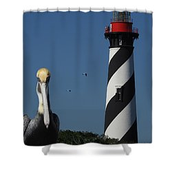 Shower Curtain featuring the photograph St. Augustine Lighthouse by Rod Seel