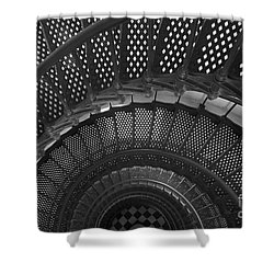St. Augustine Lighthouse Spiral Staircase I Shower Curtain by Clarence Holmes