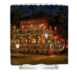 Shower Curtain featuring the photograph  St. Augustine Meehan's Pub by Louis Ferreira