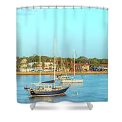 Shower Curtain featuring the photograph St Augustine Panorama by Sebastian Musial