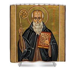 St. Benedict Of Nursia - Jcbnn Shower Curtain