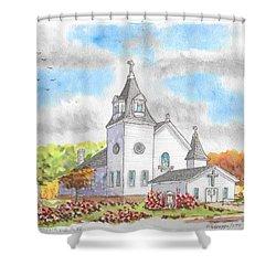 St. Boniface Catholic Church, Walhalla, North Dakota Shower Curtain